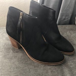 Urban Outfitters Black leather booties